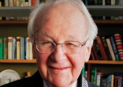 """The """"Evangelical Pope,"""" the late Reverend John Stott."""